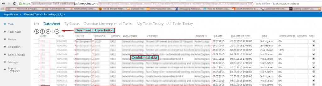 2.Tasks- Datasheet view