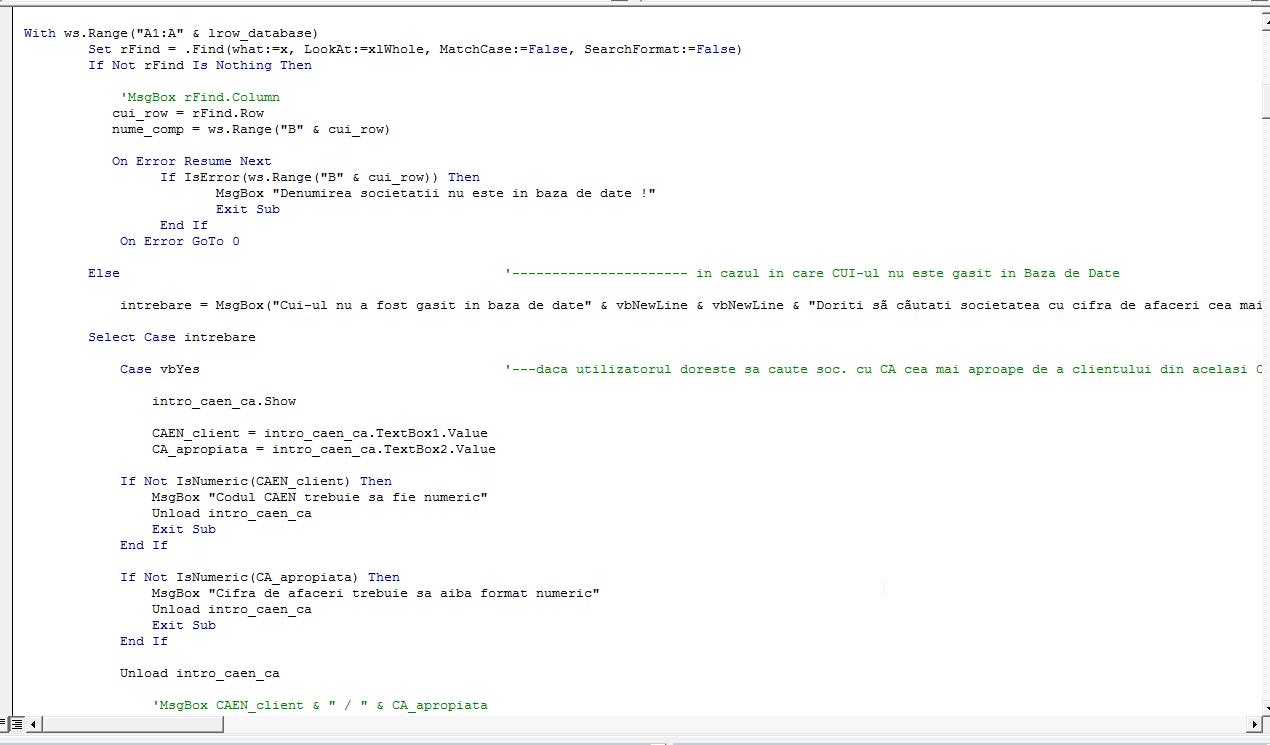 VBA Code sample1