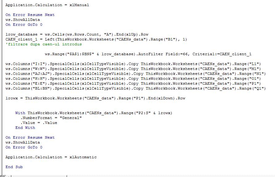 VBA Code sample9